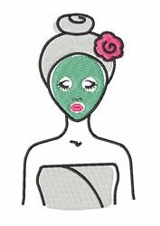 Spa Facial embroidery design