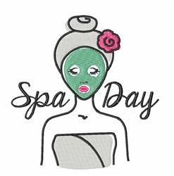 Spa Day embroidery design