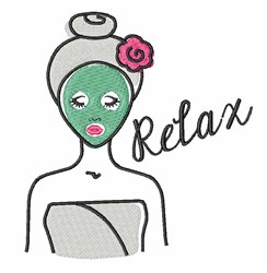 Relax Spa embroidery design