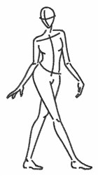 Woman Sketch embroidery design
