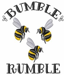 Bumble Rumble Bees embroidery design
