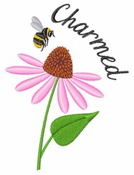 Charmed Bee embroidery design