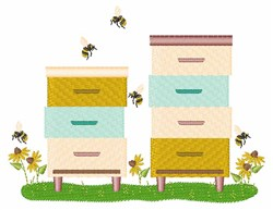 Bee Keeper Boxes embroidery design