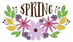 Spring Floral Border embroidery design