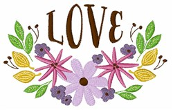 Love Floral Border embroidery design
