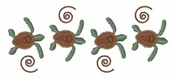Sea Turtle Border embroidery design