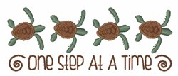 One Step Turtle Border embroidery design