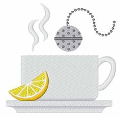 Hot Tea embroidery design