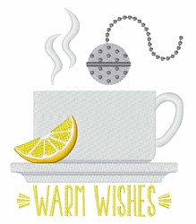 Warm Wishes Tea embroidery design