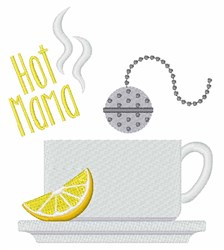 Hot Mama Tea embroidery design