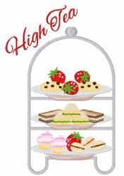 High Tea Snacks embroidery design