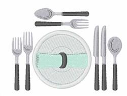 Dinner Utensils embroidery design
