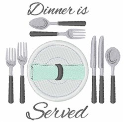 Dinner Is Served embroidery design