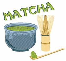 Matcha Tea Set embroidery design