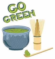 Green Tea Set embroidery design
