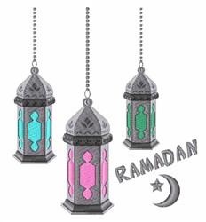 Ramadan Lanterns embroidery design