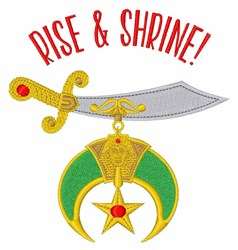 Rise & Shrine! embroidery design