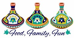 Food Family Fun embroidery design