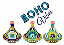 Boho Vibes Tagines embroidery design
