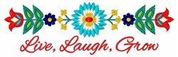 Live Laugh Grow embroidery design