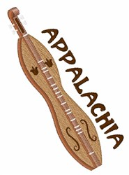 Appalachia Dulcimer embroidery design