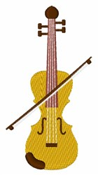 Fiddle embroidery design