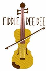 Fiddle Dee Dee embroidery design