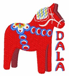 Swedish Dala Horse embroidery design