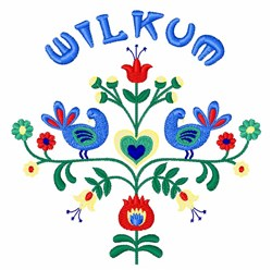 Wilkum Floral Border embroidery design