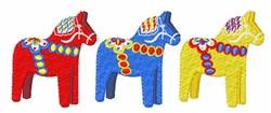 Dala Horses embroidery design