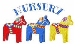 Nursery Dala Horses embroidery design