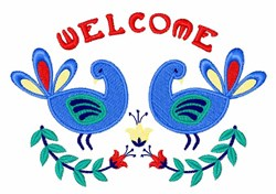 Welcome Bird Border embroidery design