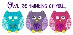 Owl Be Thinking... embroidery design