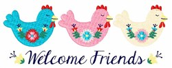 Welcome Chicken Border embroidery design