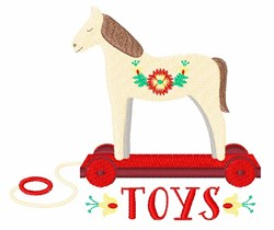 Wooden Horse Toy embroidery design