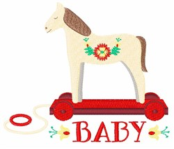 Baby Toy Horse embroidery design