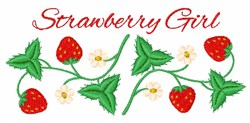 Strawberry Girl Border embroidery design