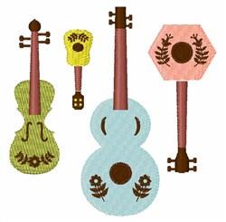 Folk Art Instruments embroidery design