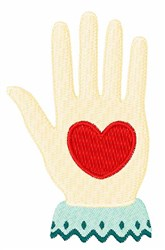 Heart Hand embroidery design