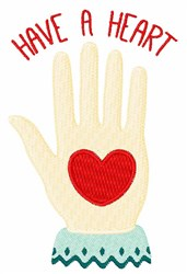 Have A Heart embroidery design