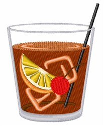Old Fashioned Cocktail embroidery design