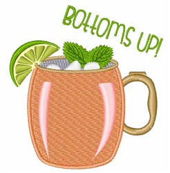 Bottoms Up embroidery design