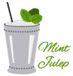 Mint Julep embroidery design