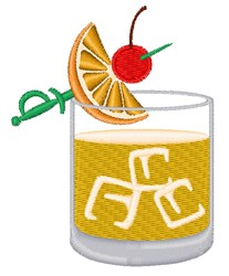 Whiskey Sour Drink embroidery design