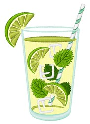 Mojito Cocktail embroidery design
