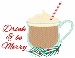Drink Be Merry embroidery design