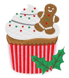Christmas Cupcake embroidery design