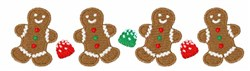 Gingerbread Border embroidery design