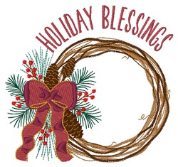 Holiday Blessings embroidery design