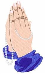 Prayer Hands embroidery design